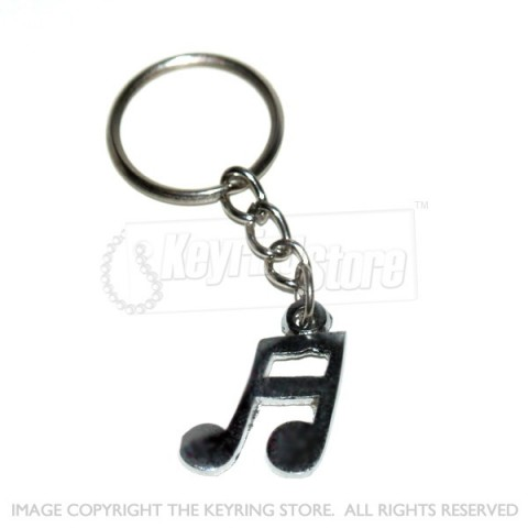 Music Notes Keyring