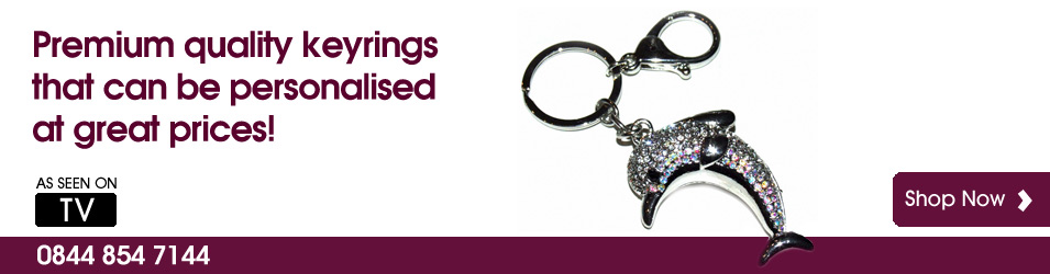Premium quality luxury keyrings from The Keyring Store